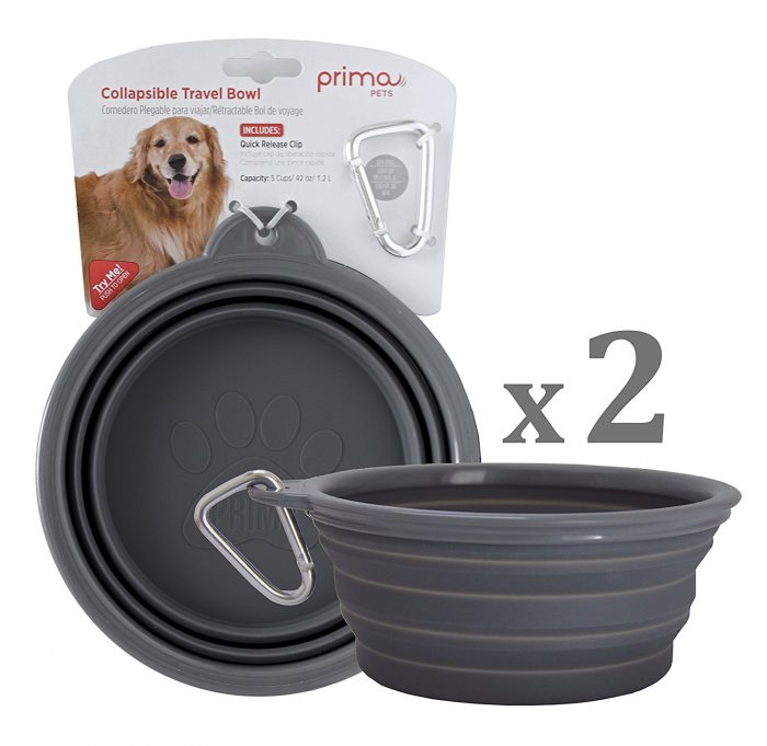 prima-pets-silicone-food-water-travel-bowl-with-clip
